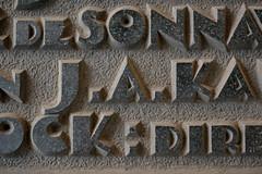 J.A.KA (Florian Hardwig) Tags: stone plaque carved denhaag lettering passage raised