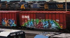 omex - awevo (timetomakethepasta) Tags: train graffiti freight taf omex dirtk awevo