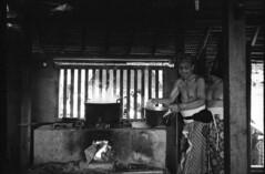 Tenganan Village, Bali - Indonesia (thomtomo) Tags: leica old people blackandwhite bali man cooking kitchen indonesia fire village kodak smoke traditional cook heat analogphotography balinese leicam6 xtol trix1600 summaron35mmf28 tenganan