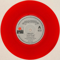 Krokus - Rock City (Leo Reynolds) Tags: xleol30x squaredcircle 45rpm record single red colour coloured vinyl platter disc 7inch sqset120 canon eos 40d xx2015xx sqset