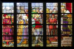 Stained glass window (Frans Schmit) Tags: stainedglass gent glasinlood sintmichielskerk fransschmit