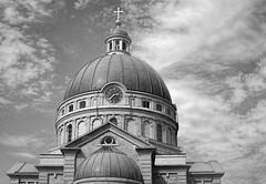 Basilica of St. Josaphat Milwaukee Wi USA (MalaneyStuff) Tags: bw church clouds 35mm nikon cross basilica milwaukee josaphat basilicaofstjosaphat d5100 doorsopenmke2015