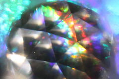 Prismatic Triangles (iofdi) Tags: sunshine triangle prism faceted twentyone refractions crystalball macromondays 100possibilities