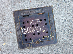 KTS Gloomer, San Francisco, CA (Robby Virus) Tags: sanfrancisco california metal concrete vent graffiti pavement cement tags sidewalk cover access sewer kts gloomer