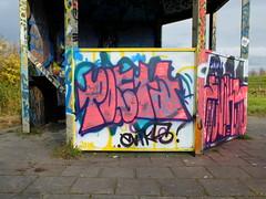 Graffiti Capelsebrug (oerendhard1) Tags: urban streetart art graffiti rotterdam tags ups vandalism throw poeta putas