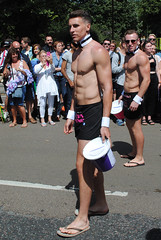 Brighton Pride 2015 (Mark Wordy) Tags: men pecs naked nude lads muscle guys parade lgbt gaypride abs hunks studs brightonhove brightonpride butlerswithbums