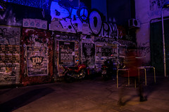 Calle Fuencarral. Dec2015 (PabloCano) Tags: madrid christmas street espaa night advertising lights navidad noche calle spain december clubbing flyers malasaa diciembre fuencarral