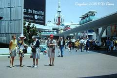 7-1-1968- Disneyland- Tomorrowland Entrance (foundslides) Tags: disney anaheim waltdisney themepark photo pics pix vintage retro slides foundslides pdthorne disneypark kodachrome kodak slidefilm found color awesome analog slidecollection irmarudd