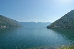 Kotor Bay with Perast on left (stevelamb007) Tags: sea seascape landscape nikon d70s wideangle tokina fjord adriatic montenegro perast kotorbay stevelamb risano 1116mmf28