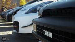Toyota Trueno AE86 & Nissan Fairlady 350Z Nismo (2) (GonzaloFG) Tags: detail slr ford chevrolet car sport skyline honda spain italia nissan evolution huracan ferrari camaro mclaren enzo bmw gto jaguar mustang m3 ducati audi lamborghini rs m6 m5 challenge m4 avant v8 rs2 spotting s2000 e30 nsx gallardo amg drifting rs4 typer gtr trackday murcielago etype quattro gt40 f40 r8 f12 rs6 v12 f50 cosworth nismo e46 r34 e36 berlinetta superleggera 458 899 m3csl desmosedici panigale ftype 275gtb rs3 e92 circuitodeljarama stralade m235i