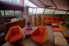 Frank Lloyd Wright designed origami chairs (gorbould) Tags: arizona usa house southwest phoenix america chair furniture interior room franklloydwright taliesinwest scottsdale hdr gardenroom 2015