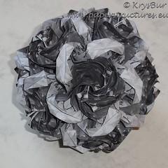 Lips (K16058) (Origami Spirals) Tags: curler paper fold twirl origami burczyk folding art krysbur