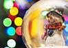 Macro Mondays - Holiday Bokeh (explore) (Rustic Tinselpudding) Tags: macromondays holidaybokeh winter christmas snowman snow globe snowglobe want build olaf bokeh lights tree holidays scarf explore