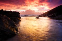 Secret Beach Sunrise (Insert something thoughtful) Tags: canon canonef24105mmf4lisusm graduated filter sunrise ocean coast beach headland queensland australia agnes townof1770 longexposure cloudporn outdoor waves