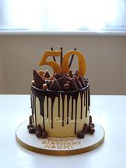 Drip Cake (Relznik) Tags: birthday cake birthdaycake chocolate drip dripcake ganache toblerone maltesers daim 50th patacakeparties