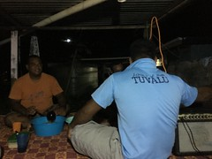 The guys preparing the Kava. Kava is a root and from the root mixed with water people get relaxed as it is a sedativ,have a narcotic effect.