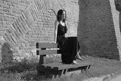 Ivett (serkoh) Tags: girl portrait people urbanportrait fashion bw blackandwhite canonef40mmf28stm canoneos550d