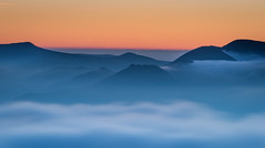 Causey Pike from Blencathra (stewyphoto) Tags: ardcrags causeypike knottrigg lakedistrict lakeland lakes redpike sail wainwright wainwrights cumbria fells hills mountains inversion sunset