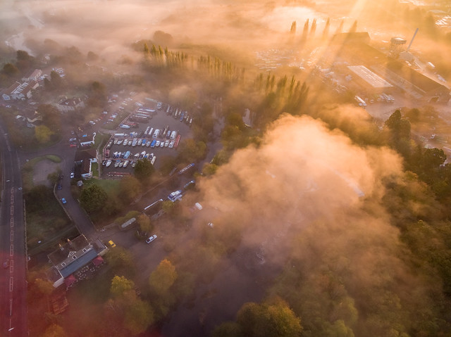 phantom3 drone england fog mist multicopter southgloucestershire sunrise quadcopter keynsham uav djipahntom3advanced djiphantom unitedkingdom gb