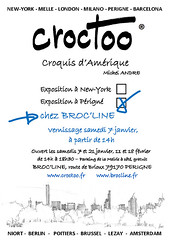 Expo Brocline Périgné janvier 2017 (Croctoo) Tags: expo brooklyn newyork chicago croctoo croquis croctoofr crayon aquarelle watercolor