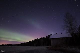 Moonlight, aurora, stars and -18C.