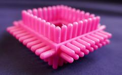 Pink block, corner of the square (Monceau) Tags: blocks toys plastic corner colorful macro