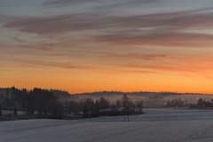 Sunset with mist in Hølen, Norway (Ingunn Eriksen) Tags: hølen norway vestby akershus sky skypoetry landscape winter winterlandscape mist fog nikond750 sunset