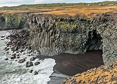 Iceland - Arnarstapi's pleated coastline (claudia@flickr) Tags: 574 arnarstapi iceland island snæfellsnes basalt coast pleated rock sea shore útnesvegur