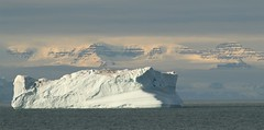 Scoresby Sund Berg (Derbyshire Harrier) Tags: 2015 autumn greenland scoresbysund easterngreenland icebergs mountains snow september mvplancius oceanwideexpeditions naturetrek arctic mist lowcloud