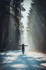 All Those Moments (Stefan (ON/OFF)) Tags: woman women portrait pov pointofview viewpoint people silhouette hair rays sunrays sunbeams forest snow winter light lightandshadow shadow atmosphere mood moody color colors portraitmode photographer sonya7m2 canonef7020028lisii life lifelust love