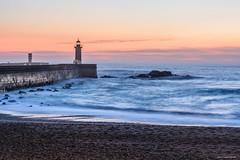 (Laszlo Horvath.) Tags: sunset porto portugalia nikon nikond7100 nikon50mmf18g atlanticocean lighthouse