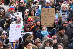 Mr. Trump, You Are Not A King! (pasa47) Tags: stlouis stlouiscity cityofstlouis downtown 2017 winter february 6d tamronlens 28300mm mo missouri protest rally canon stl