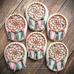 Baja Chic Dreamcatchers (cREEative_Cookies) Tags: dreamcatcher cookies dream catchers beautiful custom sugar decorated edible art instagram baja chic baby shower babyshower harry potter elephant birds mason jar lace delicate flower sports its boy girl blessed baptism crib teddy bear kokeshi dolls sunshine clouds happy flowers girly boyish theme royal icing baked adorable roses daisies fondant booties shoes onesies bibs personalized sugarveil