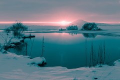 2017 Dogwood Week 11 (delikizinyeri) Tags: iceland lake myvatn snow sunset dogwood2017 week11 splittoning
