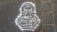 Sunfigo... (colourourcity) Tags: streetart streetartnow streetaraustralia graffiti colourourcity melbourne burncity awesome art australia original sunfigo spaceman cosmonaut stencil stencilart