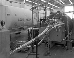 Atlas Collection Image (San Diego Air & Space Museum Archives) Tags: 1965 liquidhelium test pressure industrial insulation vibration modal tank trailer cart