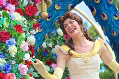 Its no wonder that her name means beauty... (jordanhall81) Tags: world beauty face festival character magic kingdom dancer disney parade resort fantasy belle beast wdw walt performer mk fof