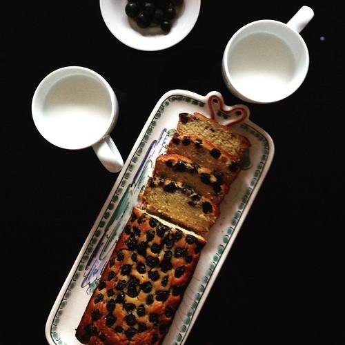 Pão de Maçaroca de Milho com Mirtilos