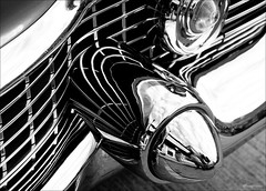 liquid chrome... (Stu Bo) Tags: light summer blackandwhite bw sunlight white black sexy love beautiful car canon vintage reflections flow photography cool classiccar vintagecar automobile scenery shadows dreamgarage smooth funky icon oldschool attitude lookdown bumper chrome american warrior frontal legend liquid caddy caddilac coolcar cruisenight showcar vintageautomobile dreamcar slammin blackwhitephotos worldcars onewickedride certifiedcarcrazy idreamofcarsmotorsandhorsepower chromeisking sbimageworks canonwarrior