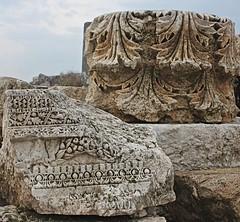 Detail of carving, Apamea, Syria (susiefleckney) Tags: apamea syria hama ghabplain seleucid roman byzantine arab ruins archaeology ancient carving westernasia