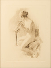 Amorsolo Lithograph -- 2 of 2 (Leo Cloma) Tags: art furniture antique auction philippines auctions filipino antiques salcedo cloma