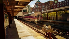 Worcester/Framingham Line @ South Station (Mozart's Ghost) Tags: mbta train city commuterrail transportation boston downtown southstation