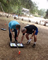 056 Checking The Map Supply (saschmitz_earthlink_net) Tags: california statepark losangeles orienteering santamonicamountains topangacanyon losangelescounty 2015 laoc losangelesorienteeringclub
