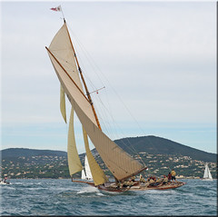 the Regatta startet late but not to late ... (mhobl) Tags: france regatta sainttropez tuiga lesvoilesdesainttropez hingebröselt