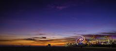 Santa Monica Pier (MarcCooper_1950) Tags: sunset beach night pier photo los nikon angeles santamonica gulls full bach frame santamonicapier range hdr nightfall lightroom autofocus 5000views 100faves blle lightoom 100commentsgroup d81o