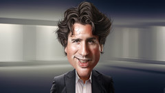 Justin Trudeau - Caricature (DonkeyHotey) Tags: canada art face photomanipulation photoshop photo political politics cartoon parliament manipulation canadian caricature politician leader member campaign karikatur caricatura primeminister commentary liberalparty politicalart karikatuur politicalcommentary justintrudeau donkeyhotey justinpierrejamestrudeau