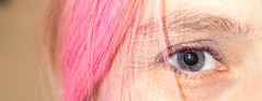 5-11-2015 (Copperhobnob) Tags: pink blue selfportrait hair eyes sparkle sp wh werehere secretsnapper