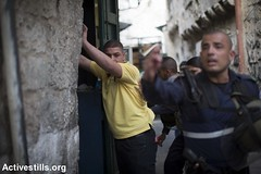 Tension in Jerusalem's old city, 12.10.2015 (Activestills) Tags: youth israel palestine jerusalem police dailylife oldcity arrest occupation eastjerusalem borderpolice orenziv topimages