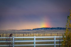 Rainbow borealis in Rock River, WY.