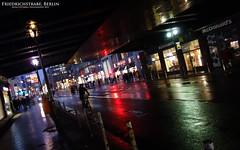 Friedrichstrae (AreKev) Tags: street berlin wet rain night reflections germany lights twilight boulevard pavement sony cybershot rainy bluehour raining mitte sonycybershot friedrichstrasse friedrichstrase rx100 friedrichstrabe dscrx100 sonydscrx100
